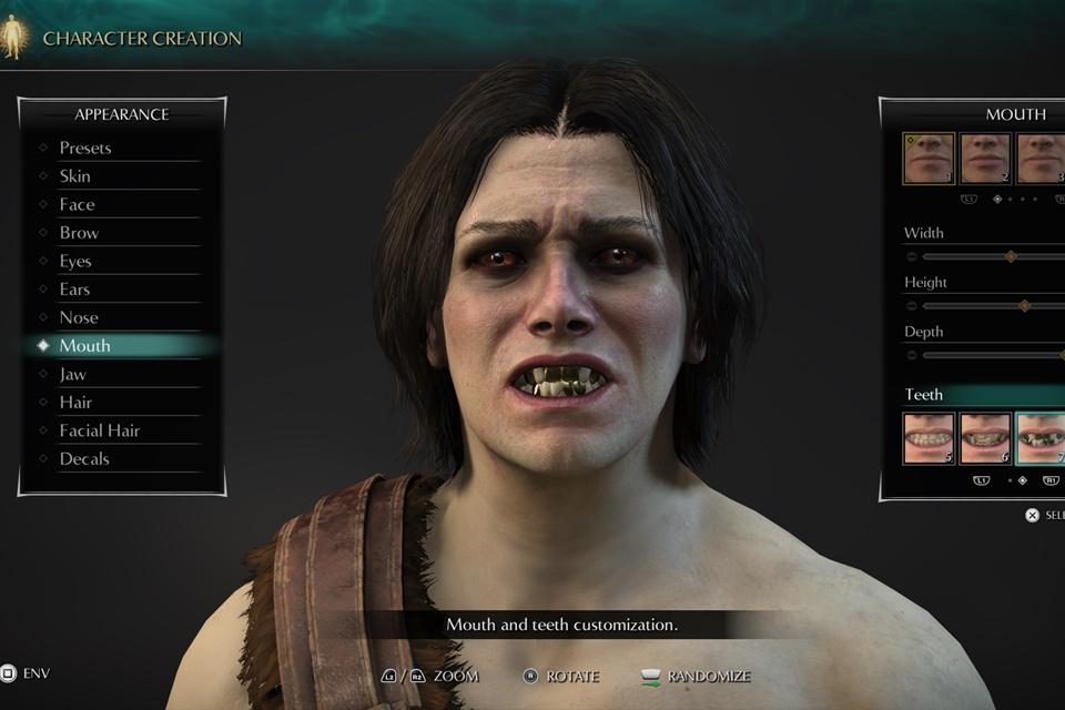 Demon's Souls Remake tem opções bem medonhas de dentes