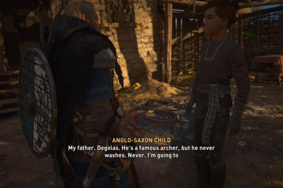 Crianças de Assassin's Creed Valhalla ficam gigantes com bug