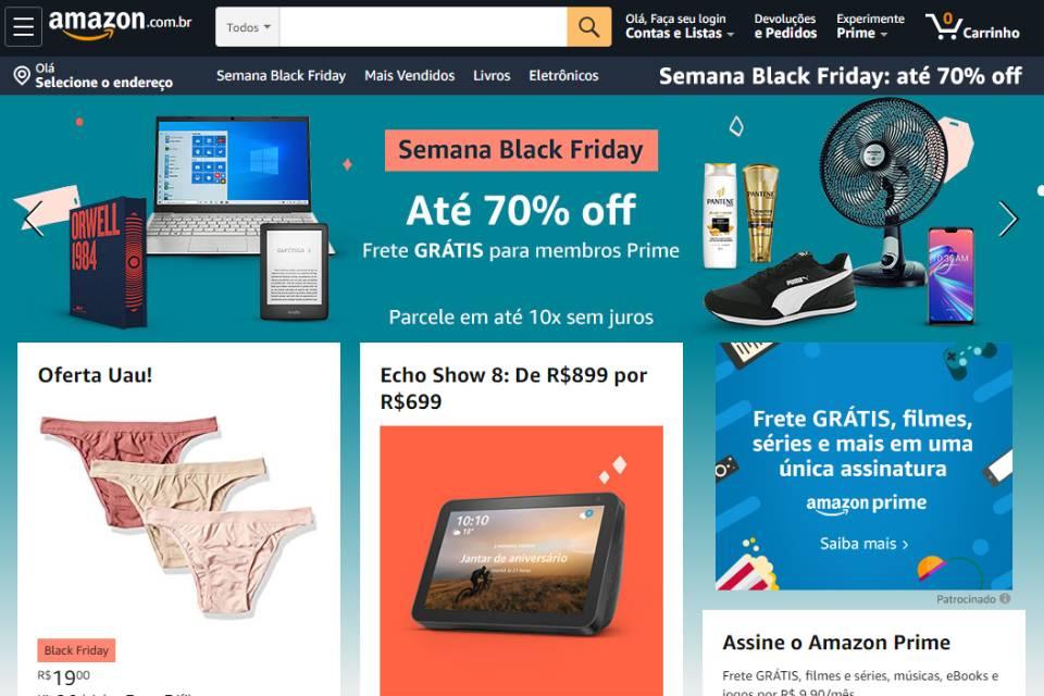 Black Friday da Amazon oferece descontos de até 70%