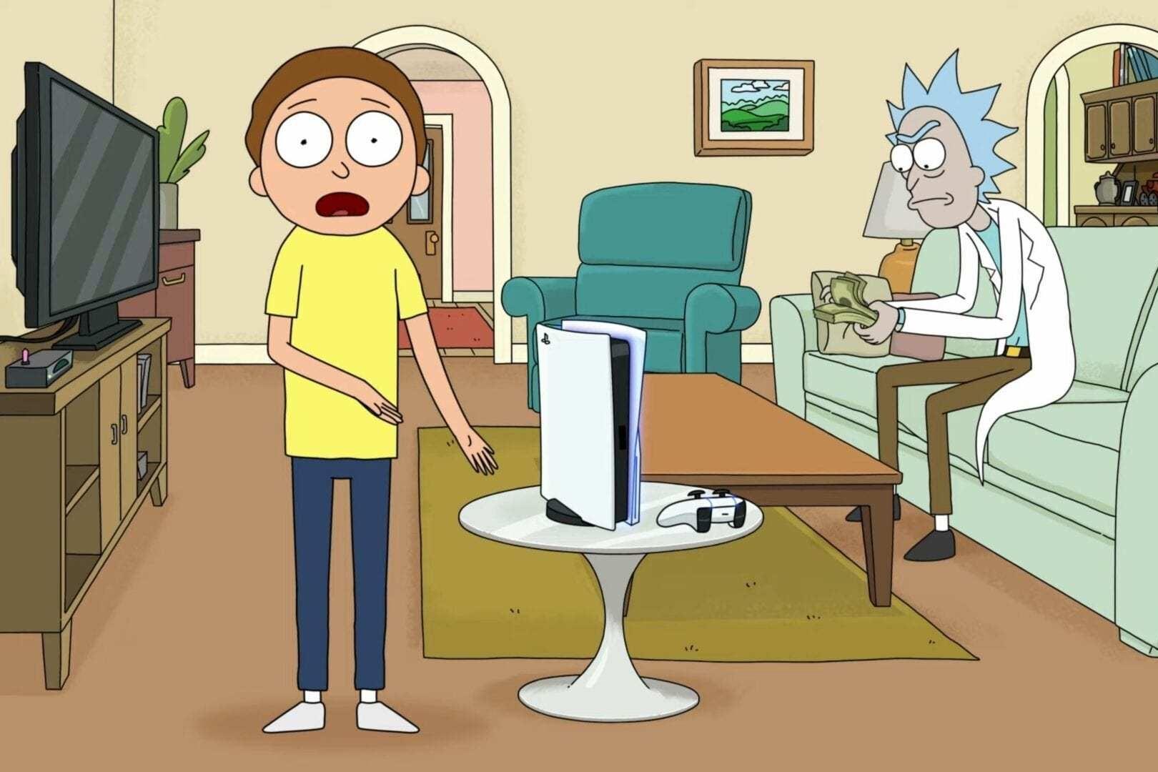 Rick and Morty aparecem em comercial hilário do PS5