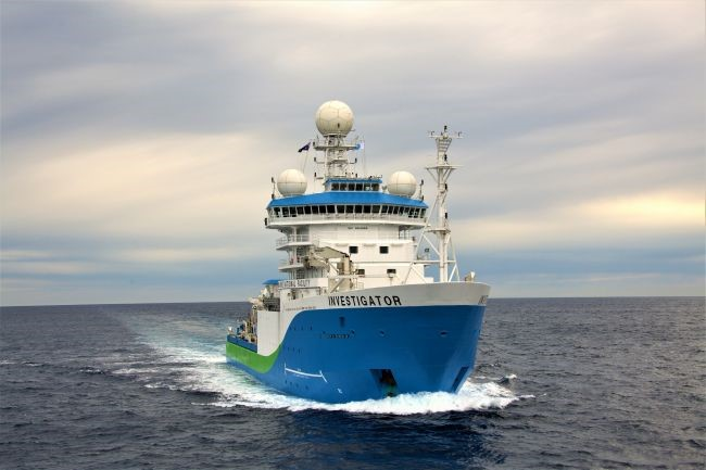 Navio que gravou as imagens tem o sugestivo nome Investigator. (Fonte: CSIRO/Divulgação)