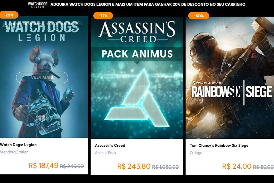 Black Friday: Ubisoft dá desconto em promoção de jogos de PC na Uplay