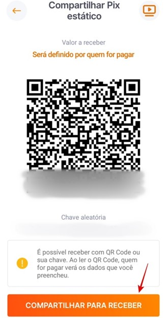 Share the transaction code with whoever will pay you.