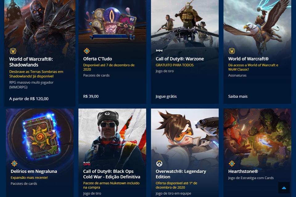 Black Friday da Blizzard na Battle.net tem desconto de até 66% em jogos