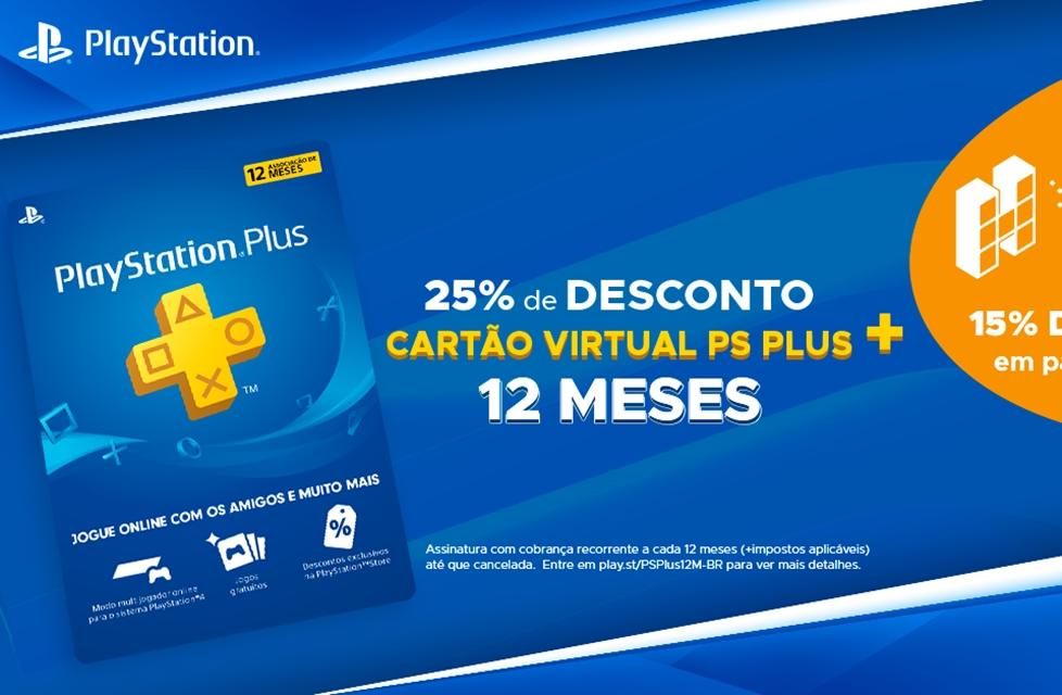 Black Friday: Hype games tem 12 meses de PSN Plus com 36% de desconto