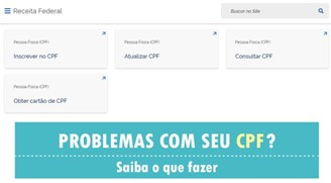 A nova página reúne serviços e orientações para quem tem pendências com o CPF.
