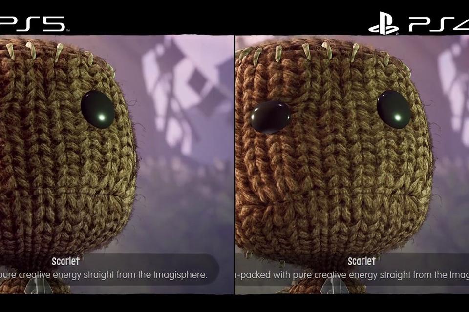 Sackboy: A Big Adventure: vídeo compara as versões de PS4 e PS5