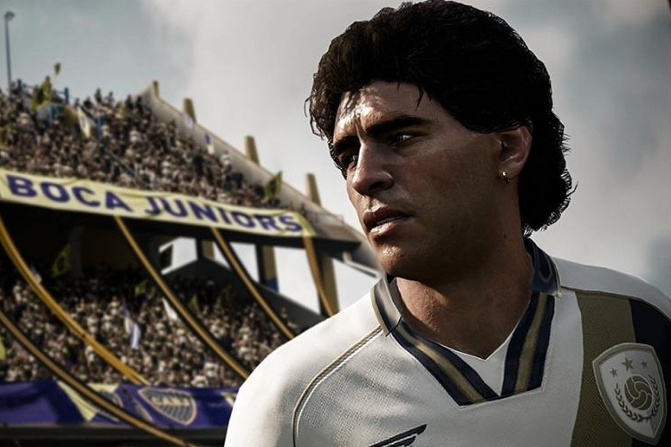 FIFA 21 faz homenagem a Diego Maradona com mosaico 3D grátis do craque