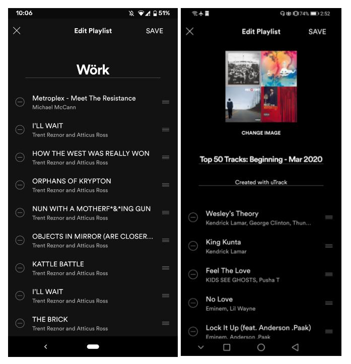 À esquerda, tela presente na maioria dos dispositivos; à direita, com as novidades.