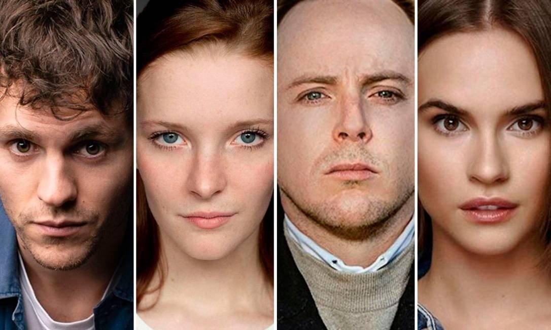Charlie Vickers, Morfydd Clark, Tom Budge e Ema Horvath