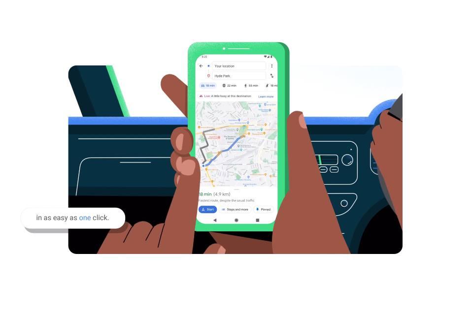 Google Maps ganha recurso de 'viagem rápida'