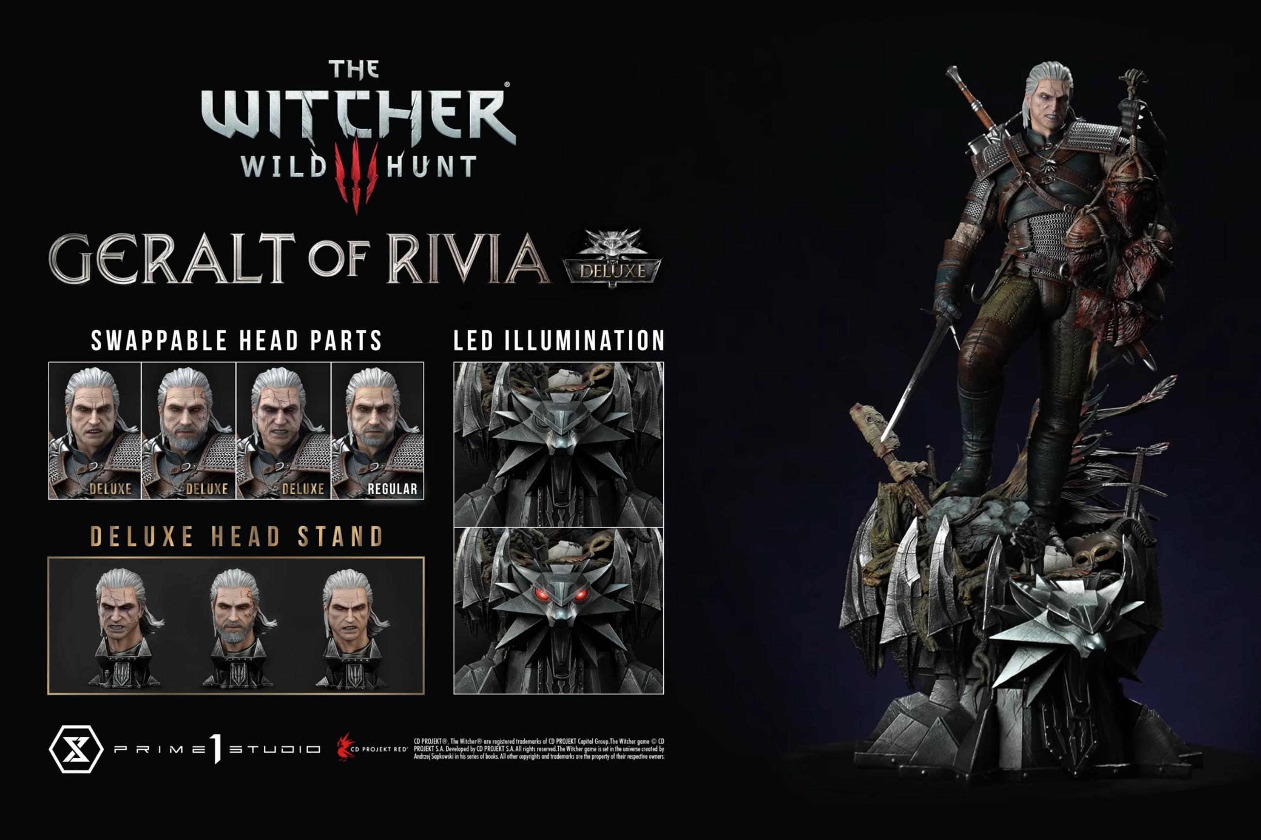 The Witcher: Geralt ganha estátua extramamente detalhada de quase 1 metro