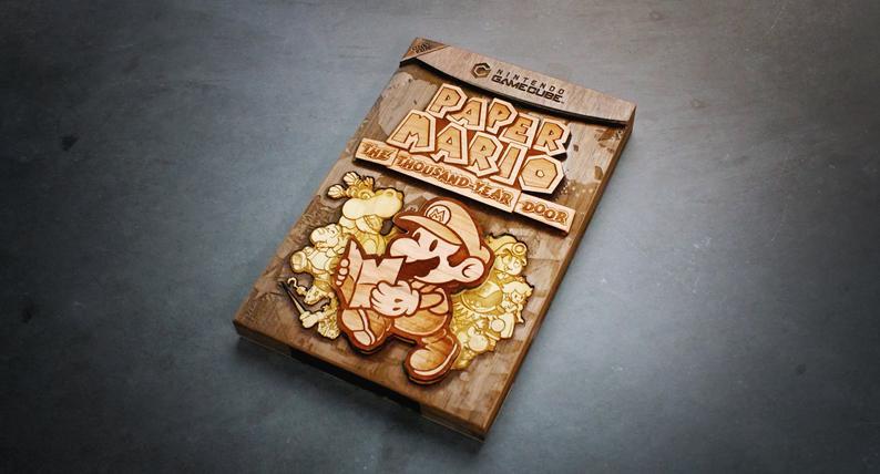 A capinha do clássico RPG Paper Mario The Thousand Year Door