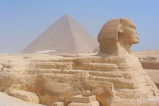 The Sphinx of Giza is one of the places indicated by the coordinates.