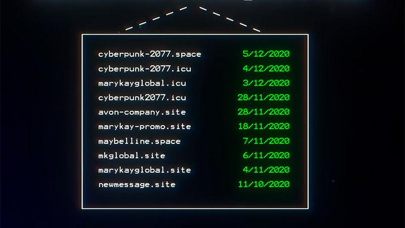 Os hackers registraram domínios envolvendo marcas de maquiagem