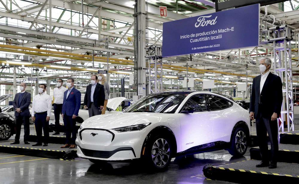 A Ford expandiu as linhas de produção em Cuautitlan, no México, para a montagem do seu Mustang Mach-E.