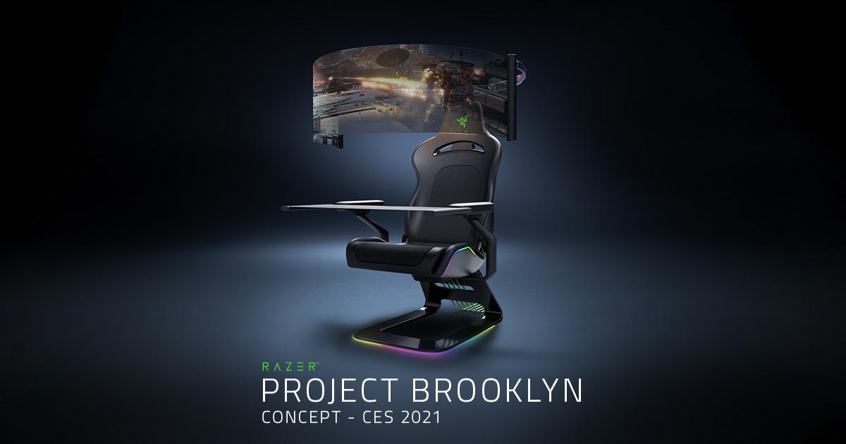 Project Brooklyn é uma cadeira gamer imersiva com tela curva de alta definição