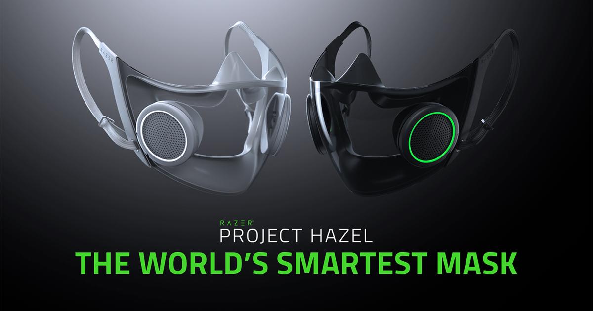 Projeto Hazel é um conceito de máscara inteligente com RGB da Razer