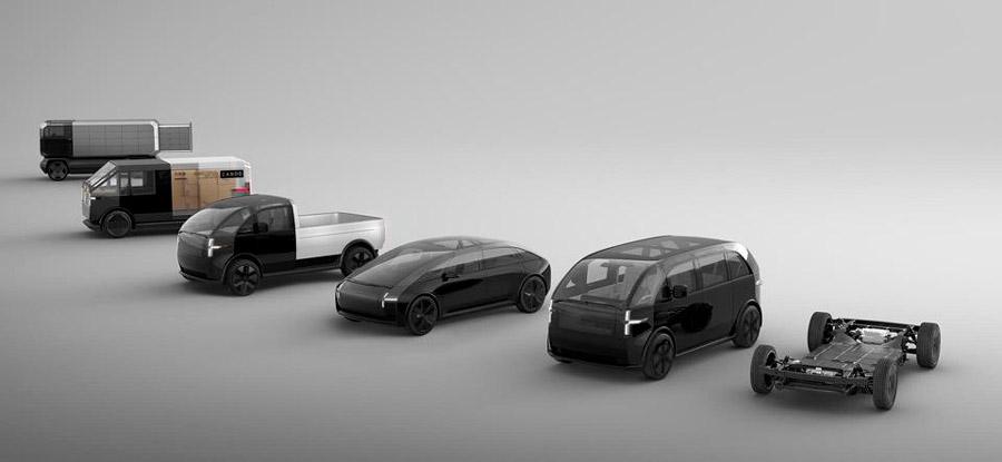 A Canoo desenvolve carros elétricos modulares