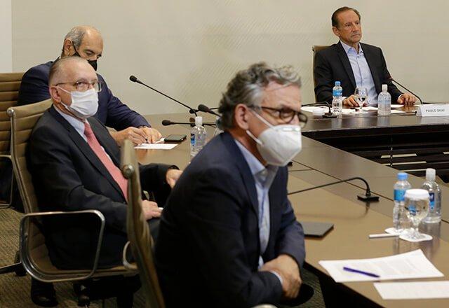 A reunião com os ministros foi organizada pelo Conselho Superior Diálogo pelo Brasil da Fiesp (Fonte: Ayrton Vignola/Fiesp/Reprodução)