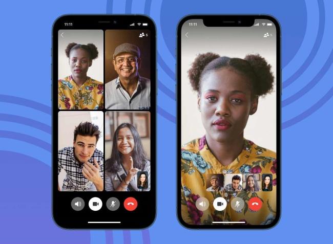 As chamadas de vídeo estão presentes no app.