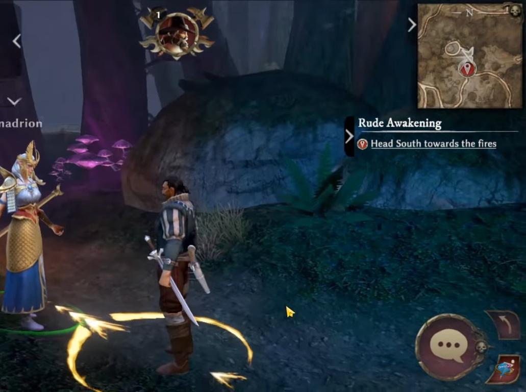 missões do jogo indicadas no mapa