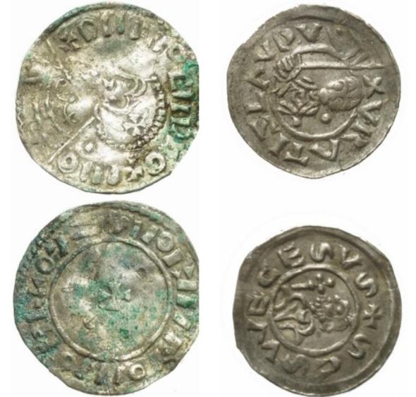Algumas das moedas encontradas.