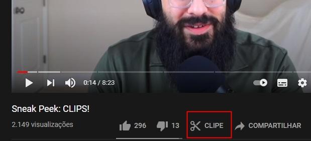 O botão está presente por enquanto em poucos clipes do YouTube.