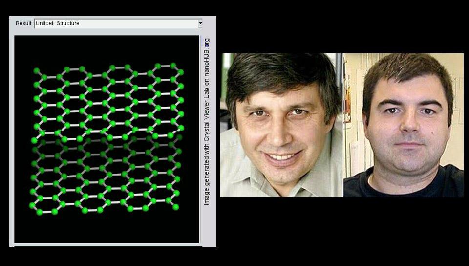 Geim e Novoselov, ganhadores do Nobel de Física 2010 (Fonte: SlidePlayer/Reprodução)