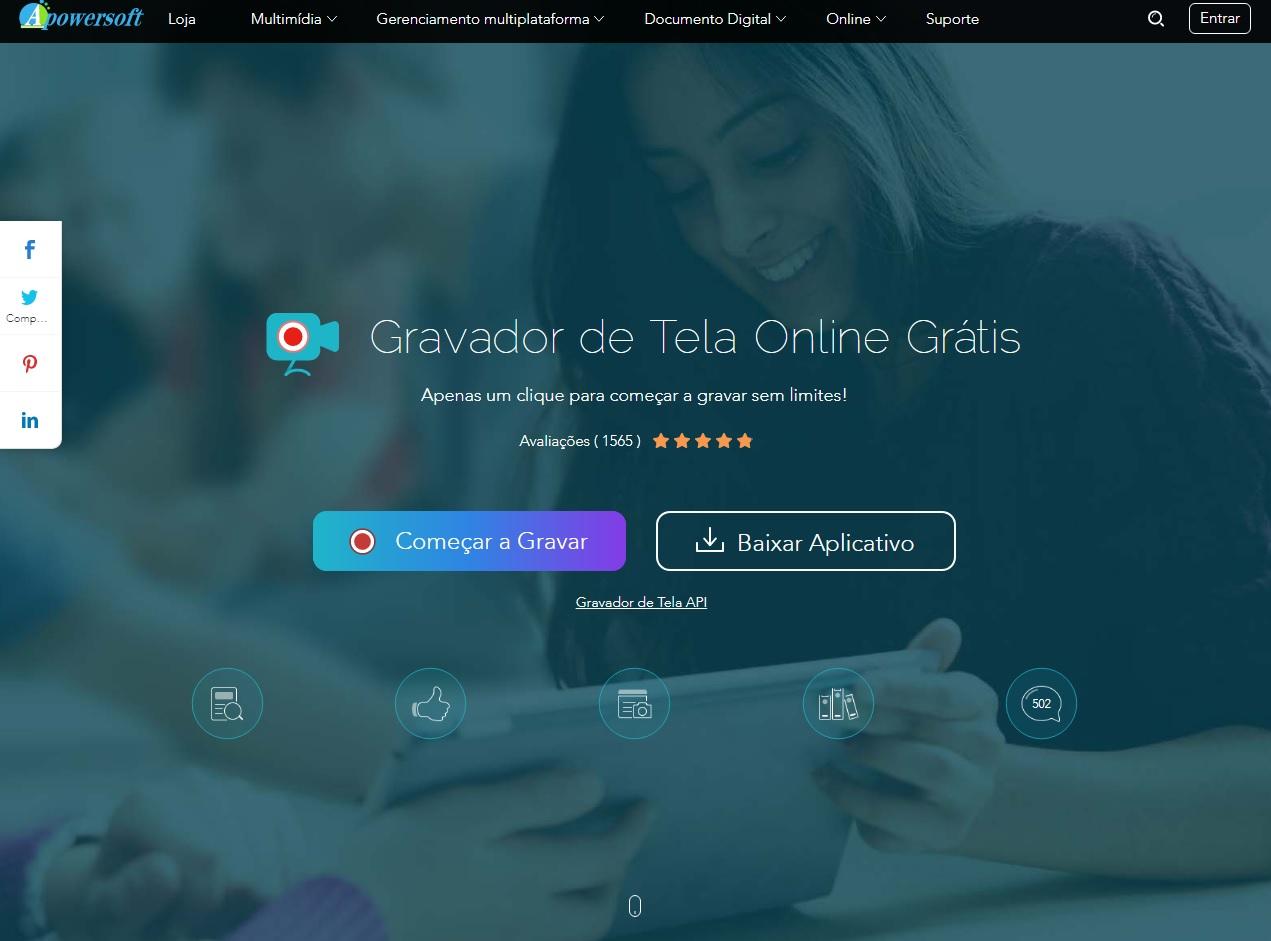Apowersoft is an online screen capture software