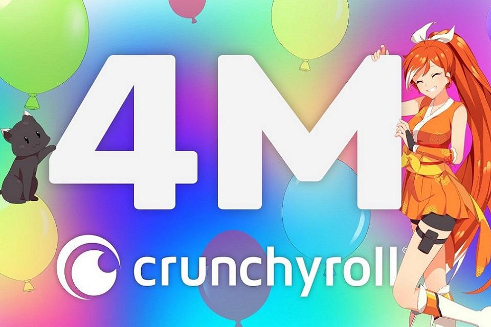 Streaming de animes Crunchyroll chega aos 4 milhões de assinantes