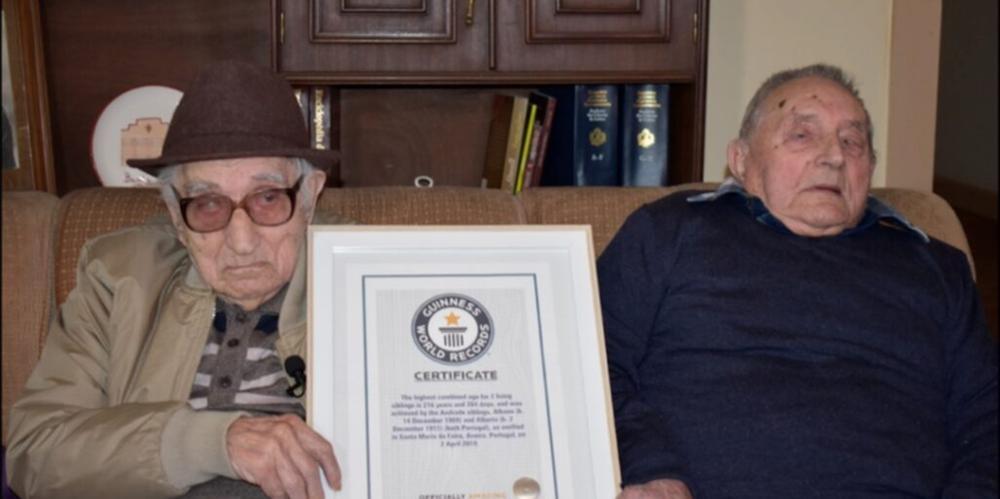 Os irmãos são reconhecidos pelo livros dos recordes como os mais velhos do mundo