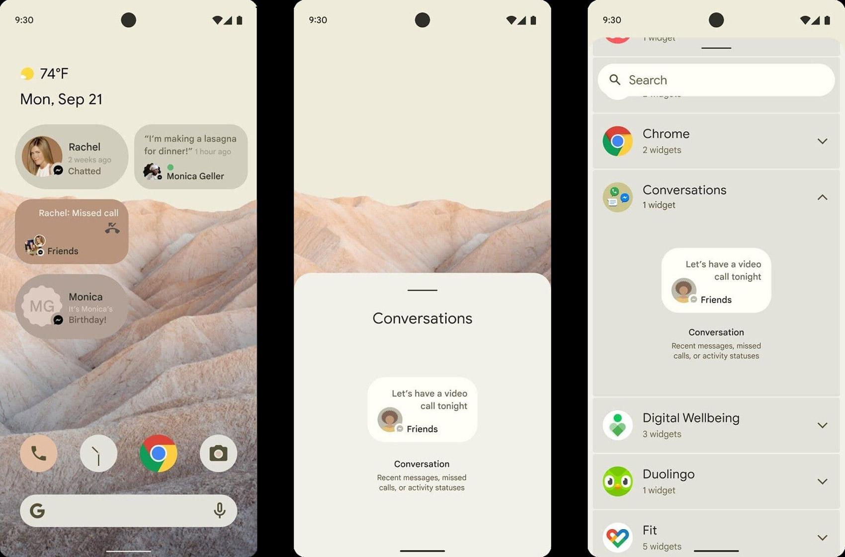 Android 12 pode ter um novo sistema de widgets para conversas