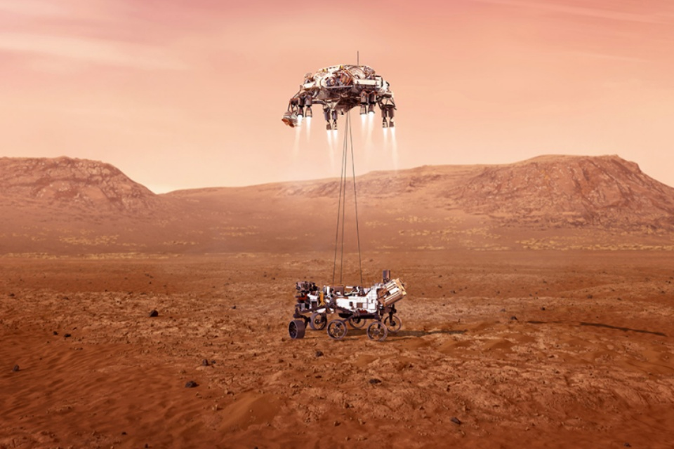 NASA vai tentar 'ouvir' o pouso do rover Perseverance em Marte
