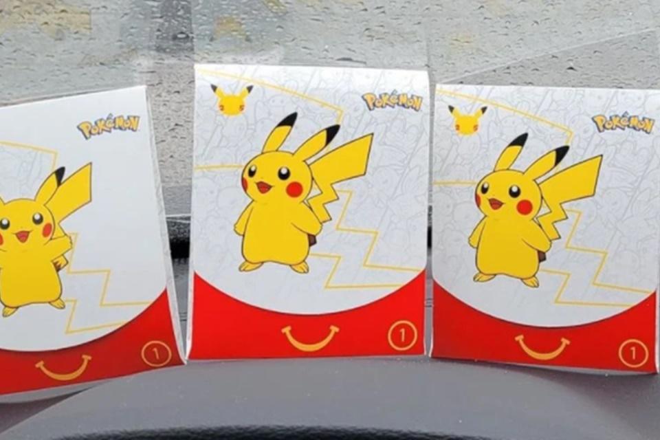 Cartas promocionais de Pokémon do McDonald's geraram 'mercado negro'