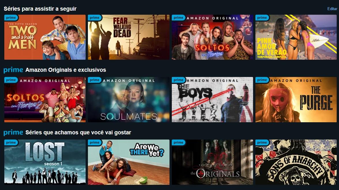 O Amazon Prime Video conta com um catálogo variado de séries e filmes.