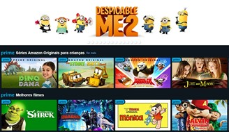 Amazon Prime Video traz um conteúdo exclusivo para crianças.