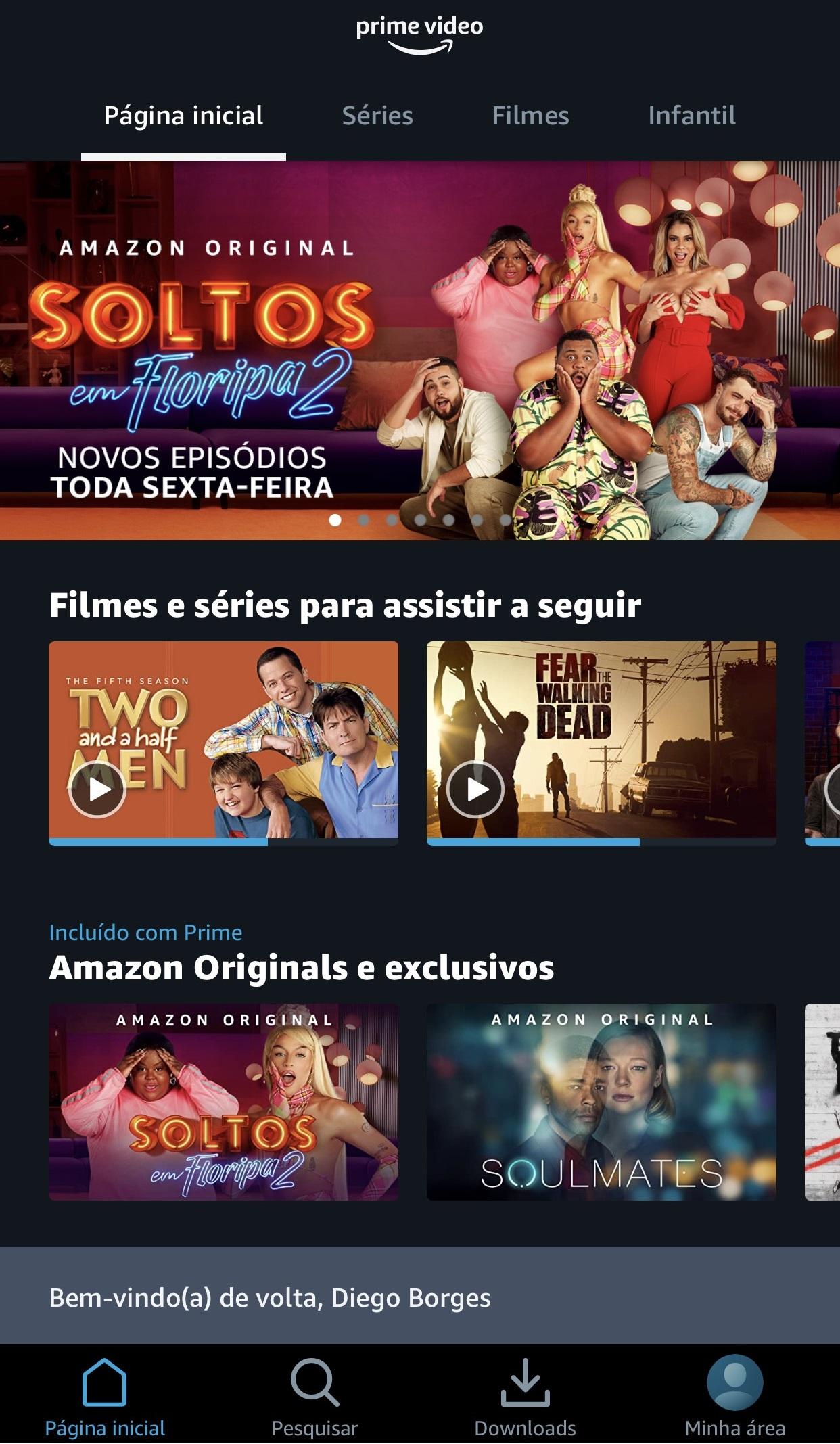 Amazon Prime Video também está disponível para celulares e tablets.