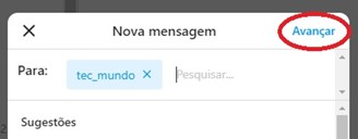 Select the profile you want to send the message to, and then click Next