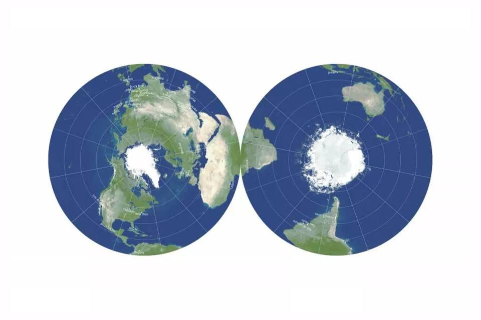 Cientistas criam um mapa 2D da Terra mais fiel à realidade