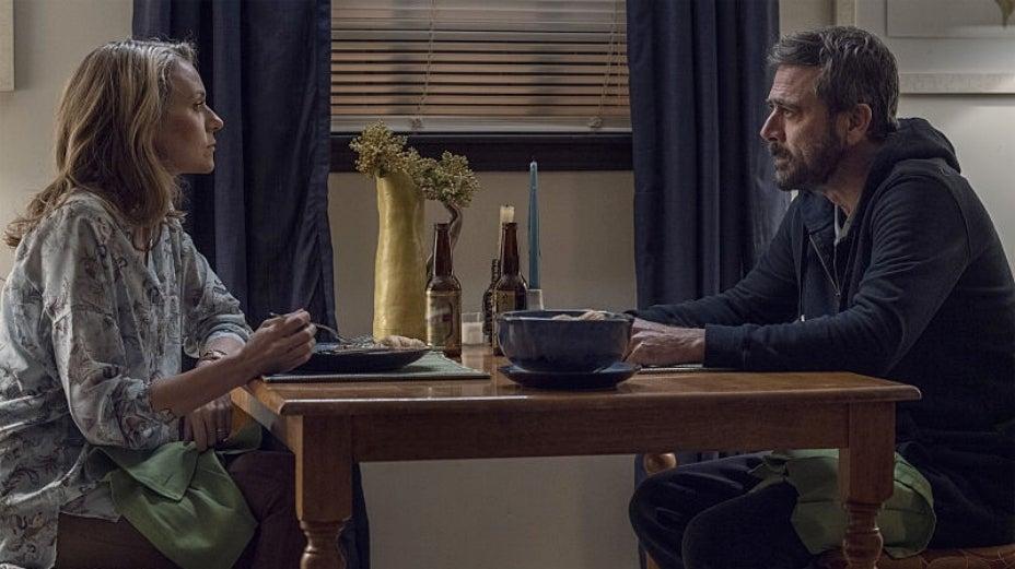 Lucille e Negan, casados na série e na vida real.