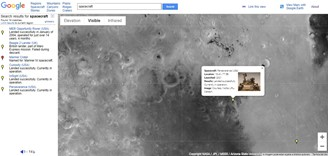 The Perseverance landing site is already on Google Mars.
