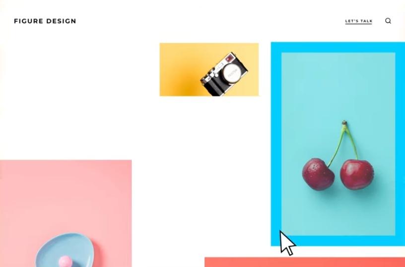 Design de figuras do site da GoDaddy