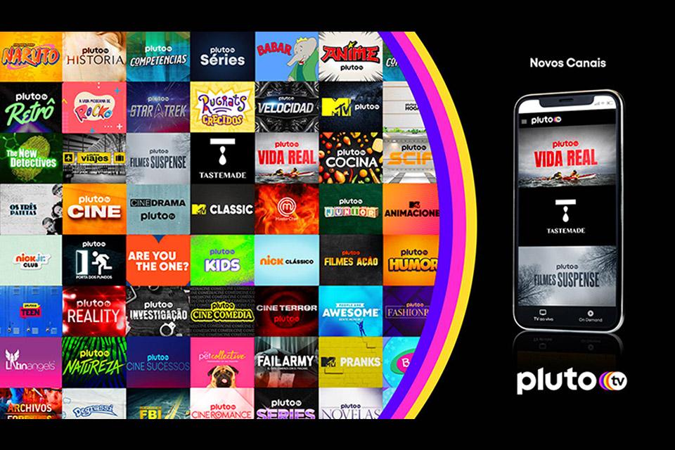 Pluto TV lança mais três novos canais gratuitos no Brasil
