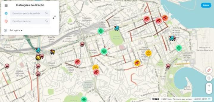 Waze Live Map.