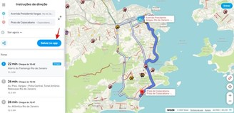 Save the routes created on the PC to your phone.