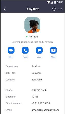 perfil de um usuário do zoom meetings