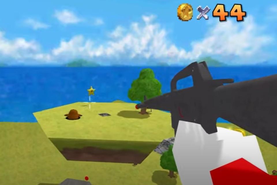 Super Mario 64 com armas em FPS vira tendência na cena de speedrun
