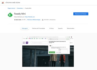 Feedly Mini is a perfect extension for anyone who uses Feedly on a daily basis