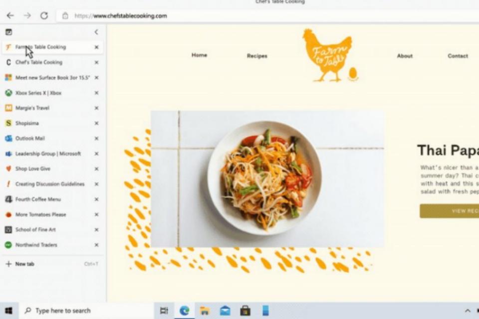 Microsoft Edge ganha abas verticais e inicialização 41% mais rápida
